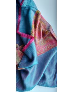 Hand Made in Kashmir ,  20% Silk and 80% Kashmir with Beautiful Designs 3