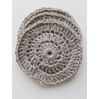 Pack of  5X GREEN PLANET Round Facial Scrubbers,Natural - 100% Linen , choice your YARN