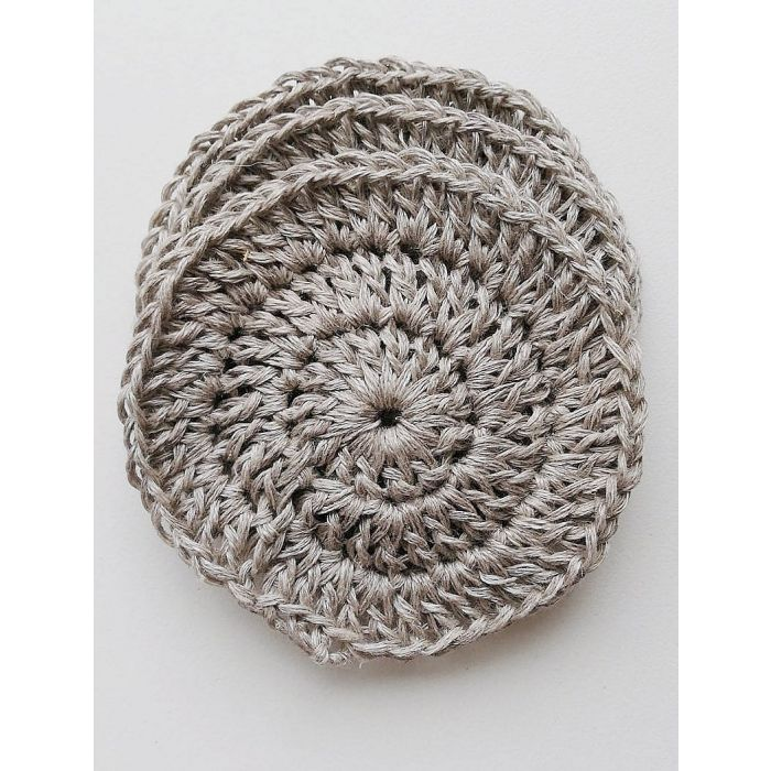 Image of GREEN PLANET Round Facial Scrubbies,Natural - 100% Cotton , Linen or Wool