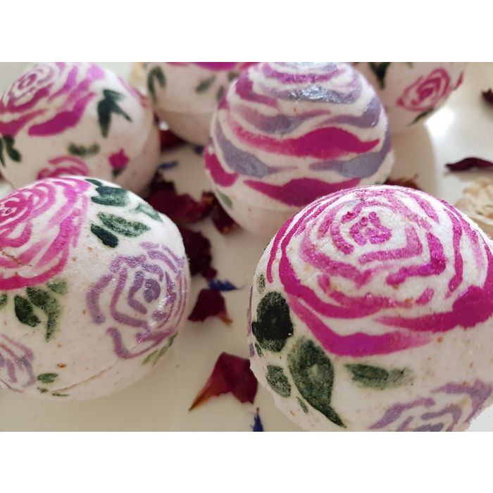 Image of Hand Painted bath boms